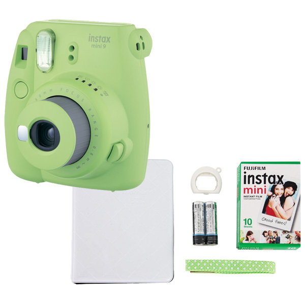 Фотоаппарат моментальной печати Fujifilm INSTAX MINI 9 LIME GREEN SET FEST