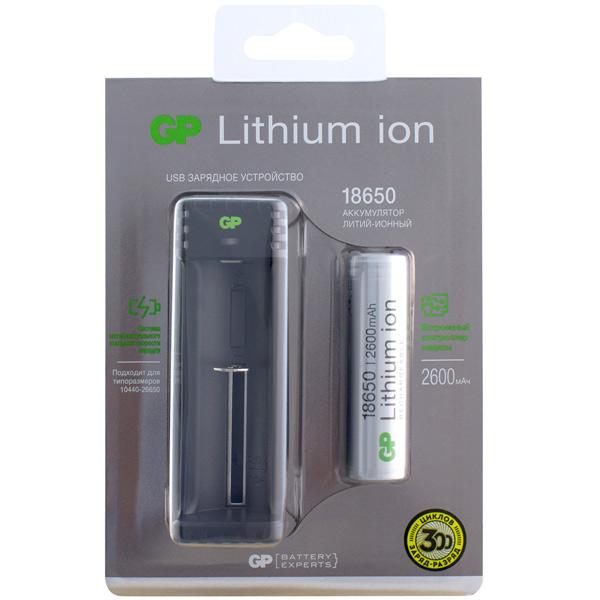 Зарядное устройство + аккумуляторы GP GPL1111865026FPE-2CRFB1