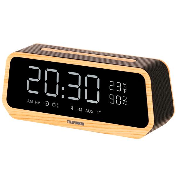 Радио-часы Telefunken TF-1701B Wood белого цвета