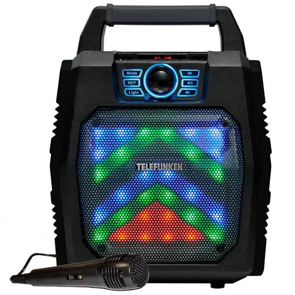 Музыкальный центр Mini Telefunken TF-PS1250B красного цвета
