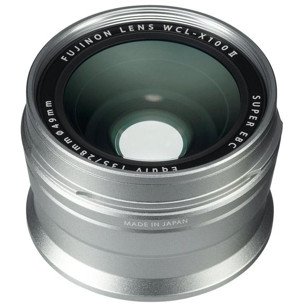 Адаптер для объективов (переходник) Fujifilm WCL-X100 II Silver серебристого цвета