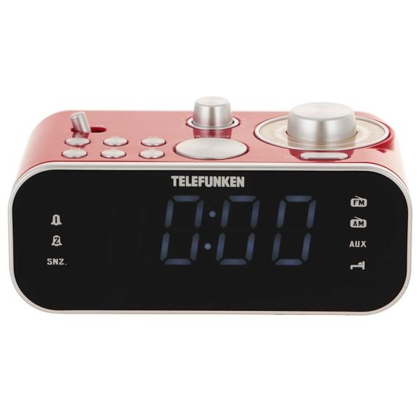 Радио-часы Telefunken TF-1593 Red/White белого цвета