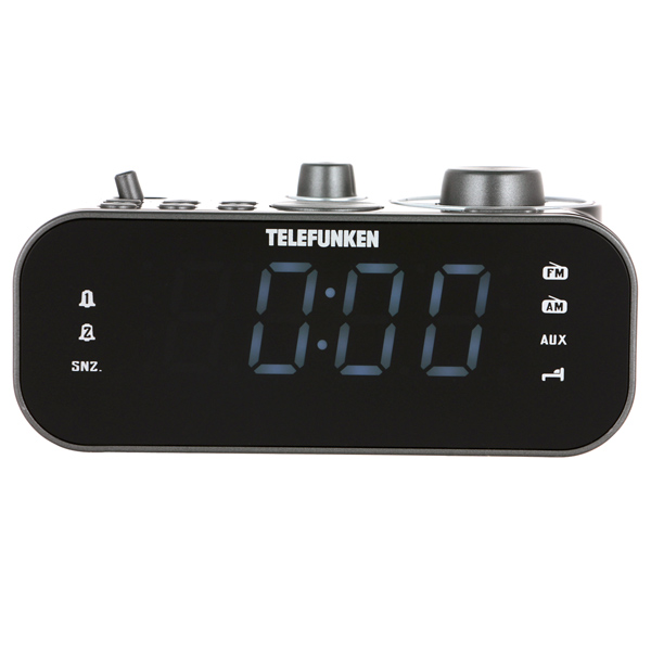 Радио-часы Telefunken TF-1593 Black/White белого цвета