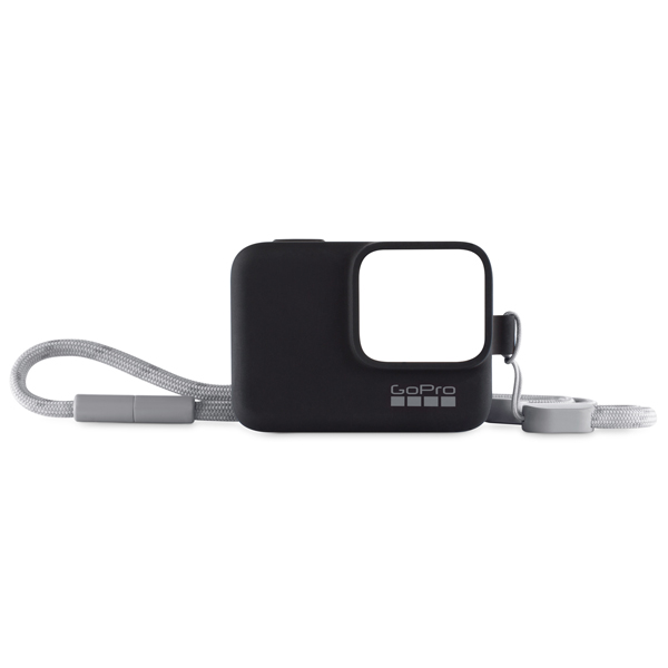 Аксессуар для экшн камер GoPro Sleeve + Lanyard HERO8 черный (AJSST-001) черного цвета