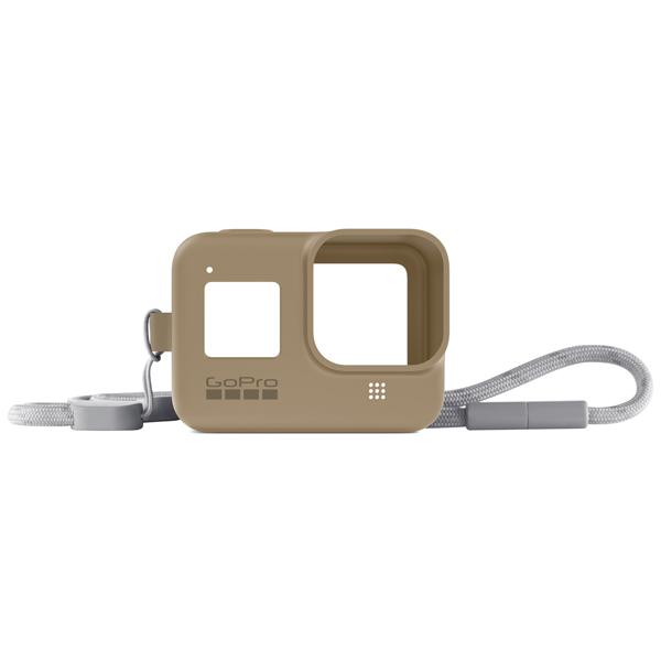 Силиконовый чехол с ремешком GoPro Sleeve + Lanyard HERO8 Sand (AJSST-006) коричневого цвета