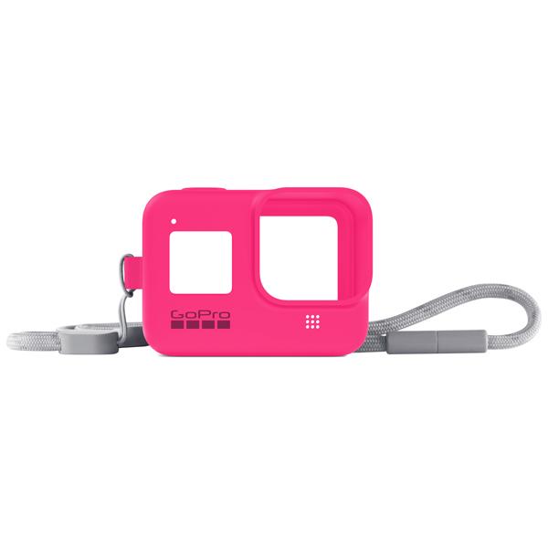 Аксессуар для экшн камер GoPro, Sleeve + Lanyard HERO8 Neon Pink (AJSST-007)  - купить со скидкой