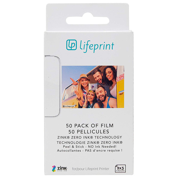 Фотобумага Lifeprint 2x3 Sticky Back - 50 Pack