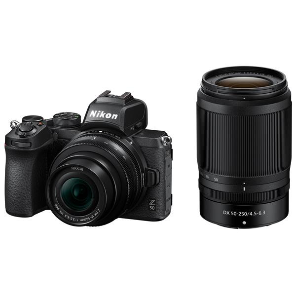 Фотоаппарат системный Nikon — Z 50 + NIKKOR Z DX 16-50mm VR + 50-250 VR