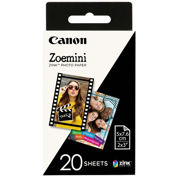 Картридж для фотоаппарата Canon Zoemini Zink Photo Paper 20 листов (ZP-2030-20)