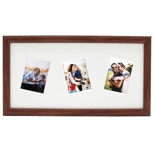 Рамка для фотографии Fujifilm INSTAX TRIPLE MINI APERTURE FRAME DARK коричневого цвета