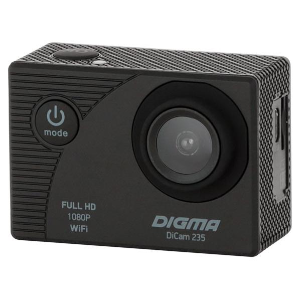 Видеокамера экшн Digma — DiCam 235 черная