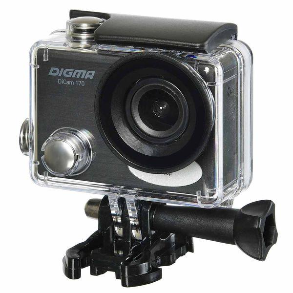 Видеокамера экшн Digma — DiCam 170 черная