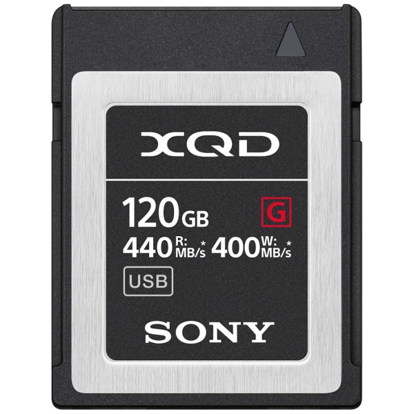 Карта памяти XQD Sony 120GB 440R/400W (QD-G120F/J)