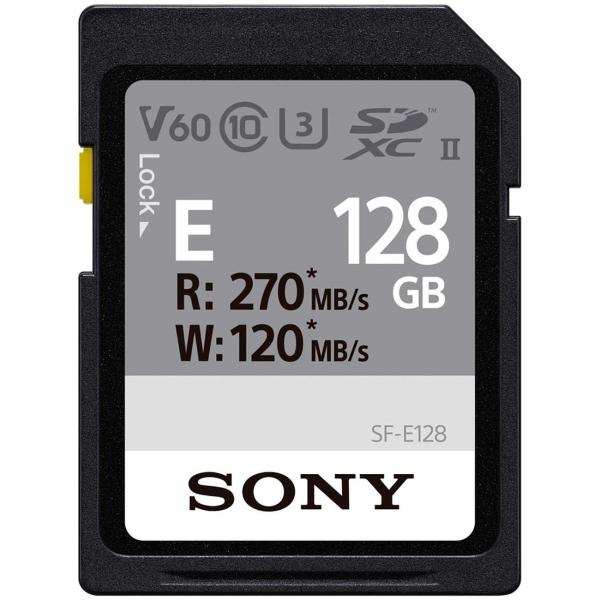 Карта памяти SDXC Sony 128GB 270R/120W (SF-E128/T) черного цвета