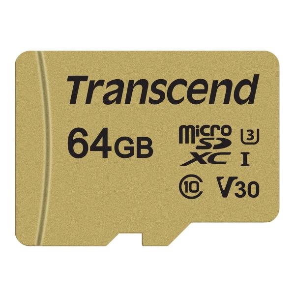 Карта памяти Transcend 64GB (TS64GUSD500S)