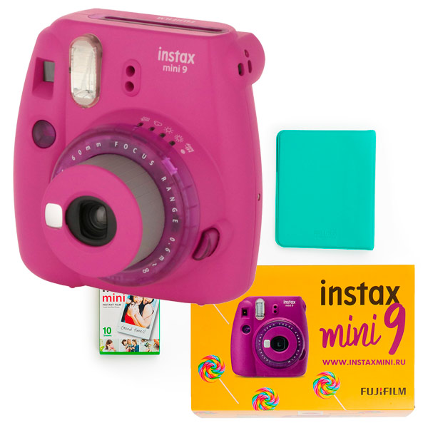 Фотоаппарат моментальной печати Fujifilm Instax Mini 9 Purple Lollipop SET