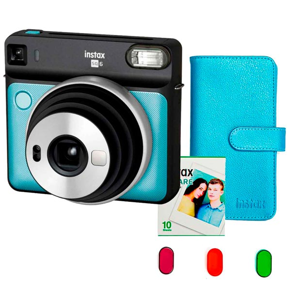 Фотоаппарат моментальной печати Fujifilm — INSTAX SQ6 SET AQUA BLUE