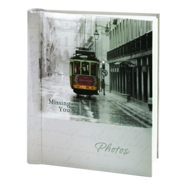 Альбом для фотографий Brauberg 391125 20 магнитных листов, 23*28см, Трамвай