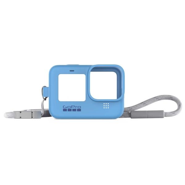 Чехол GoPro ADSST-003 Sleeve + Lanyard Blue синего цвета