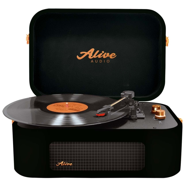 Проигрыватель виниловых дисков Alive Audio STORIES Glam Noir Bluetooth (STR-06-GN)
