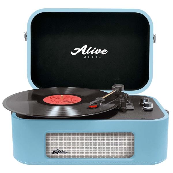 Проигрыватель виниловых дисков Alive Audio STORIES Turquoise Bluetooth (STR-06-TS)