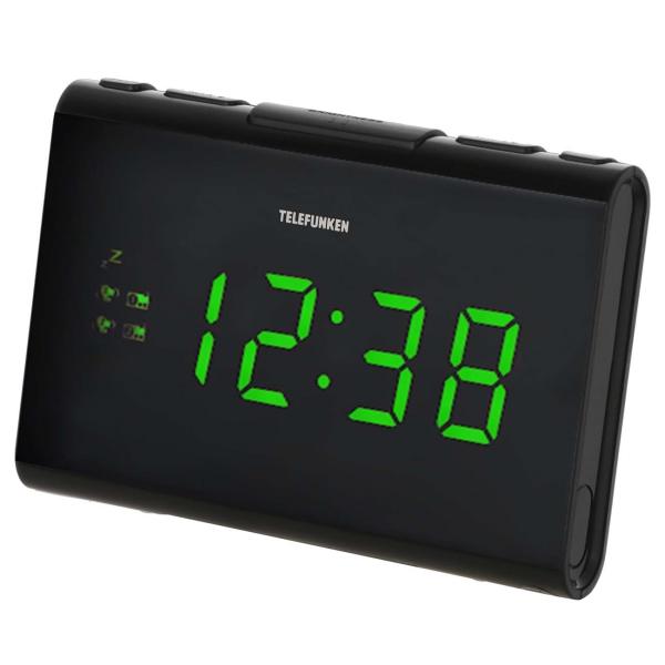 Радио-часы Telefunken TF-1708 черного цвета