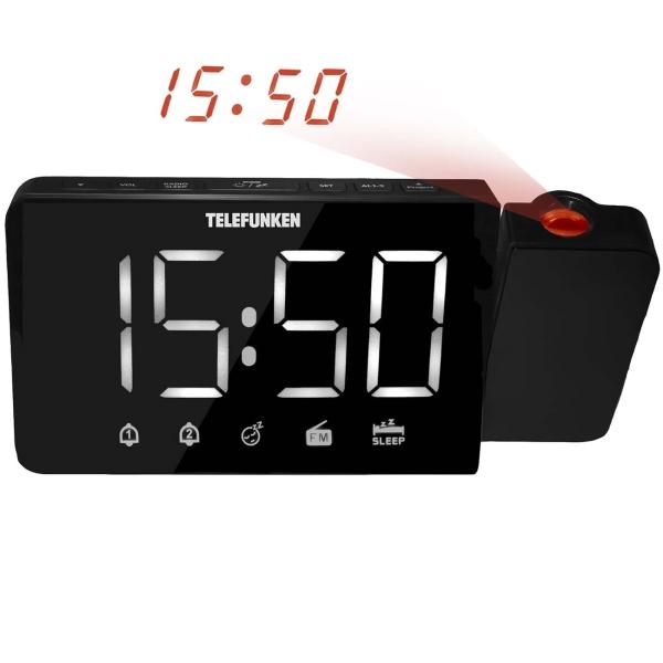 Радио-часы Telefunken TF-1709 белого цвета