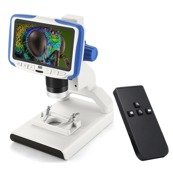 Микроскоп Levenhuk, Rainbow DM500 LCD, белый  - купить со скидкой