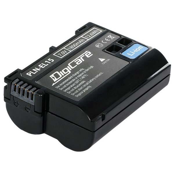 Аккумулятор для цифрового фотоаппарата DigiCare PLN-EL15 черного цвета