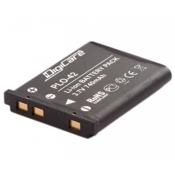Аккумулятор для цифрового фотоаппарата DigiCare PLO-42 черного цвета