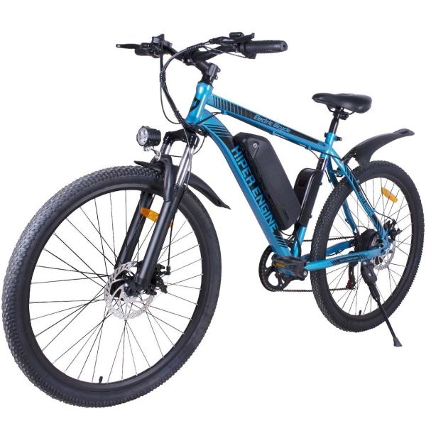Электрический велосипед HIPER Engine B51 (HE-B51) Blue Silver