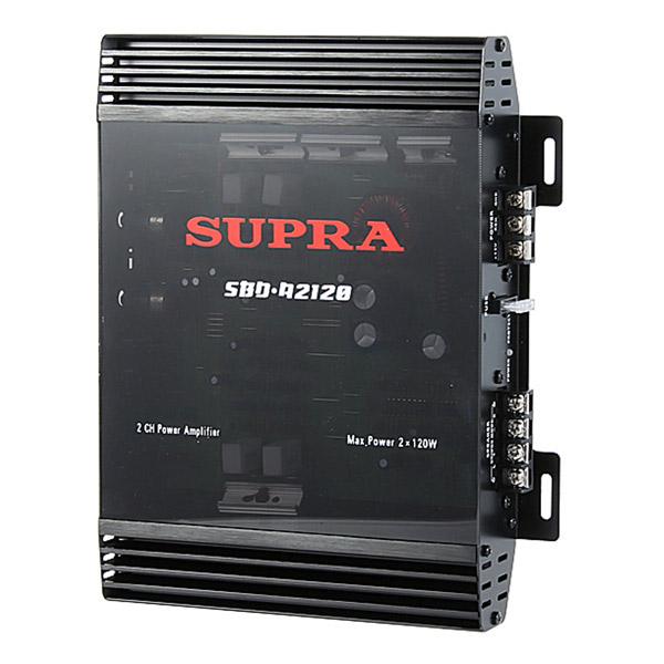 Автомобильный усилитель (2 канала) Supra SBD-A2120 усилитель звука supra sbd a4240 4 канальный