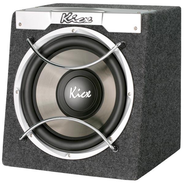 Автомобильный сабвуфер активный Kicx ICQ-300BA