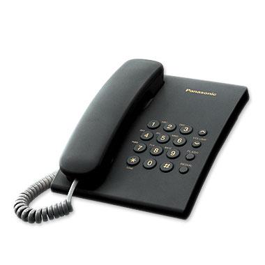 Телефон проводной Panasonic KX-TS2350 RU-B проводной телефон panasonic kx ts2350 белый kx ts2350ruw