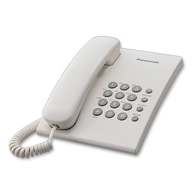 Телефон проводной Panasonic KX-TS2350 RU-W телефон проводной panasonic kx ts2570 ru