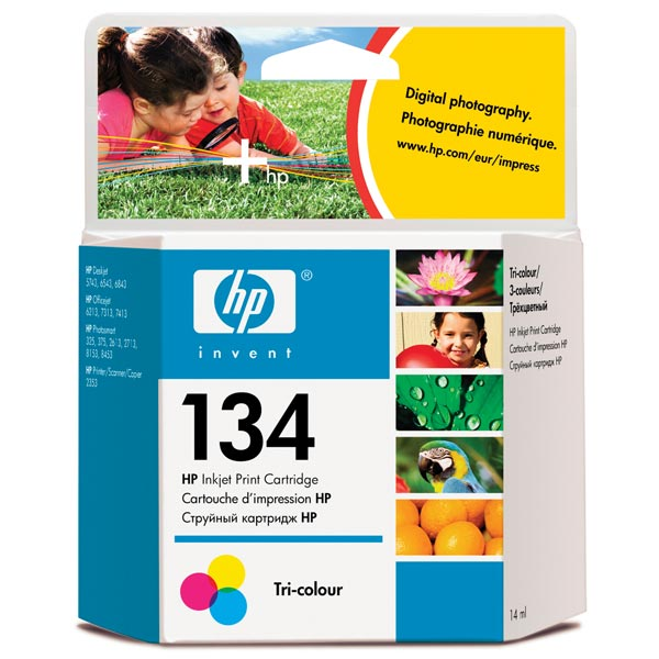 Картридж для струйного принтера HP 134 Tri-colour (C9363HE) цена 2017