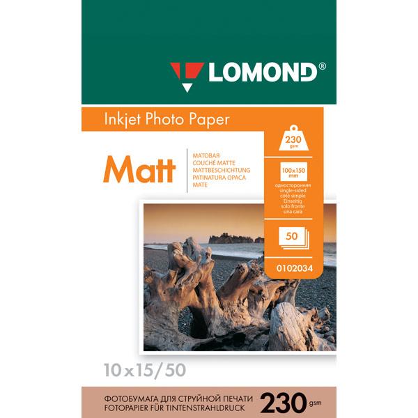 Фотобумага для принтера Lomond — 0102034 (10x15)