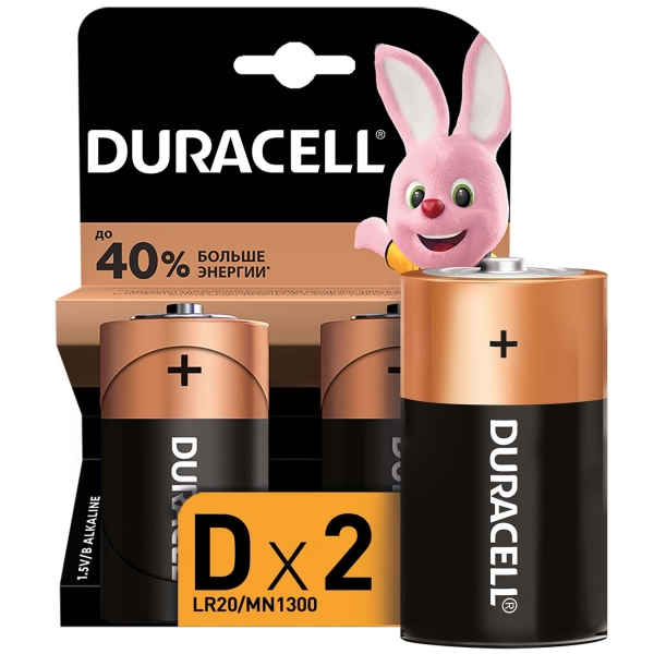 Батарея Duracell D 2шт.