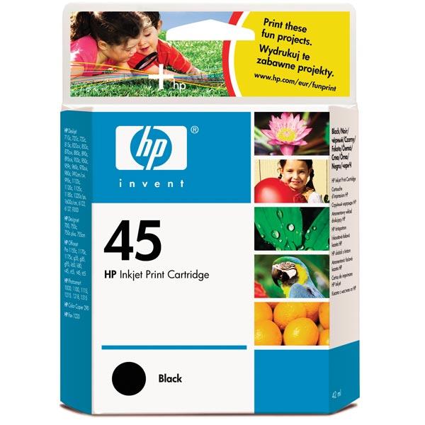 Картридж для струйного принтера HP 45 Black (51645AE) картридж для принтера и мфу hp cn053ae 932xl black