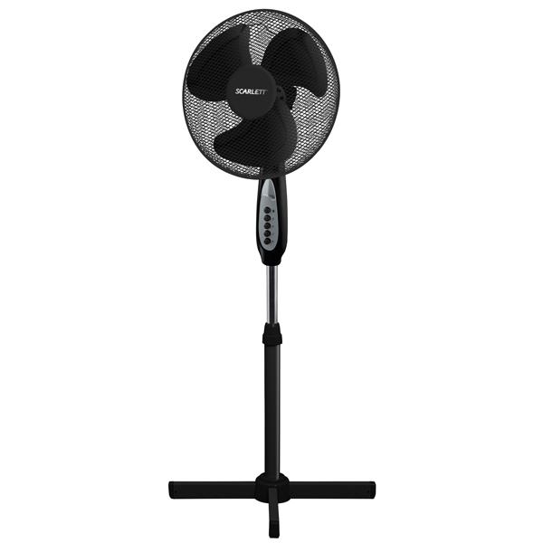 Вентилятор напольный Scarlett SC - 1177 Black масляный радиатор scarlett sc oh67b03 9 black