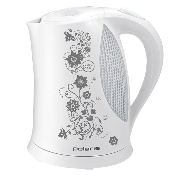 Электрочайник Polaris PWK 1822CLR Floris White/Grey чайник polaris pwk 1822clr 1 8 л пластик