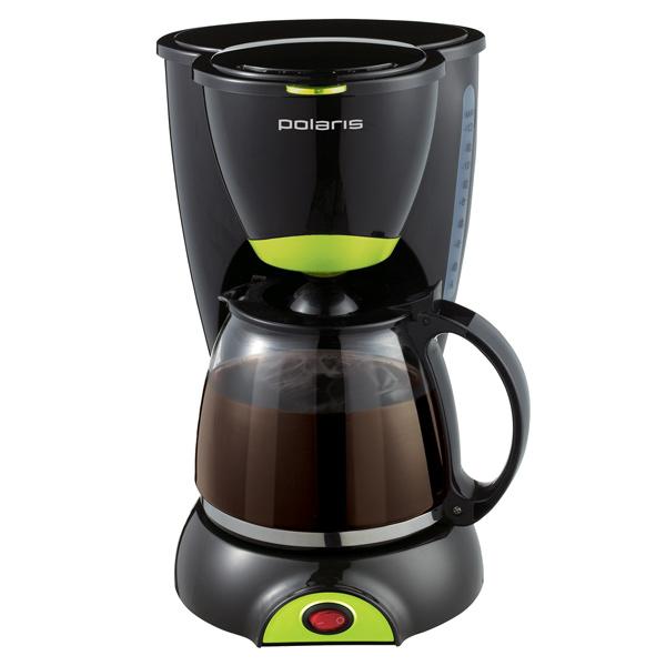 Кофеварка капельного типа Polaris PCM 1211 Black/Green кофеварка polaris pcm 1211 черный салатовый