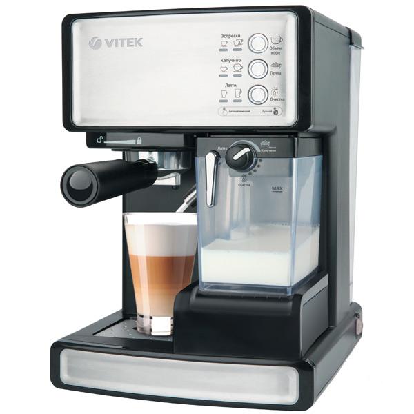 Кофеварка рожкового типа VITEK VT-1514 BK цена и фото