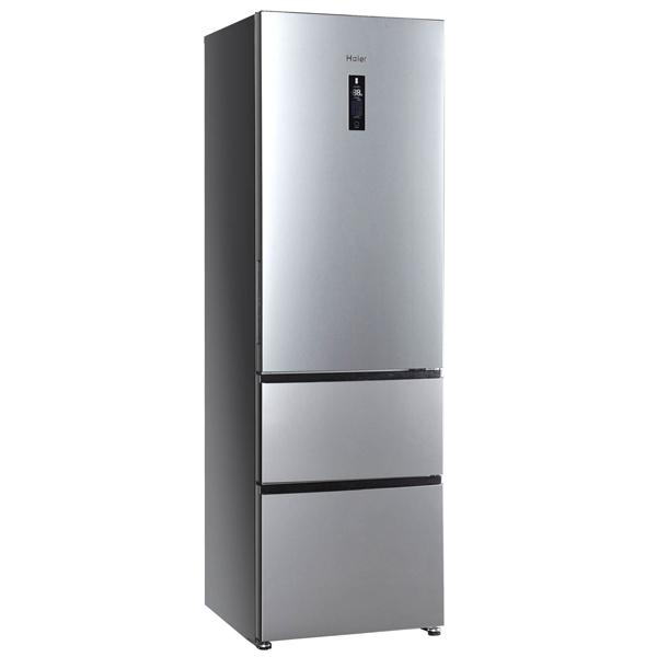 Холодильник с нижней морозильной камерой Haier A2FE635CFJRU козырек д двери 1500х930мм пк серебристый
