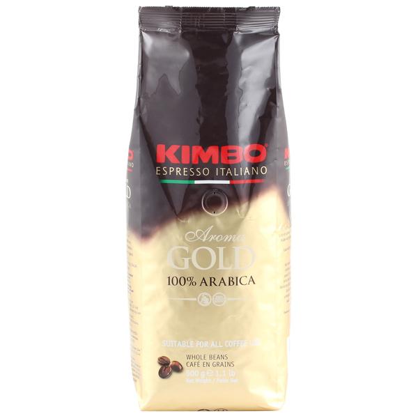 Кофе в зернах Kimbo Aroma Gold 100% Arabica 500 гр. кофе в зернах delonghi kimbo arabica 1кг