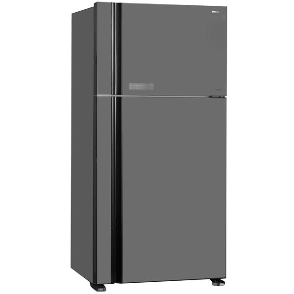 Холодильник с верхней морозильной камерой широкий Hitachi R-VG 662 PU3 GGR hitachi r w 662 pu3 ggr графитовое стекло