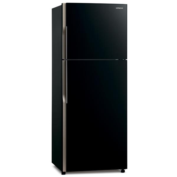 Холодильник с верхней морозильной камерой широкий Hitachi R-VG 472 PU3 GBK