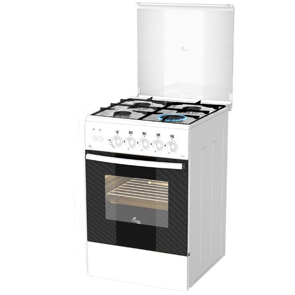 Газовая плита (50-55 см) Flama AG14210 White газовая плита 50 55 см flama аk1414 white