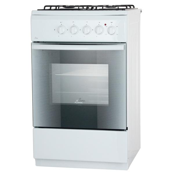Комбинированная плита (50-55 см) Flama АK1414 White