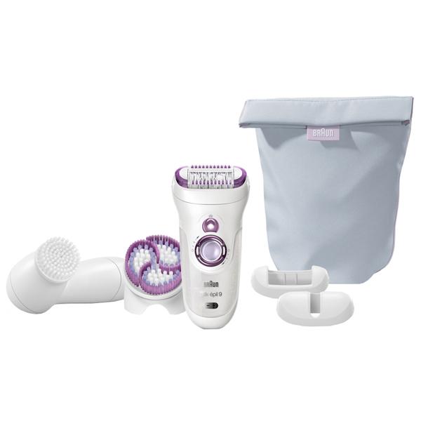 Эпилятор Braun Silk-epil 9-969 Wet&Dry+прибор для очищения лица